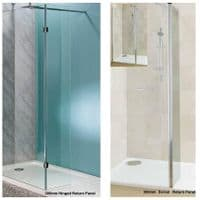 Jupiter Mercury 1400 x 800mm Walk-in Shower Enclosure Wet Room Pack & Tray- 10mm Glass Panels